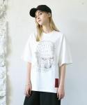 GRID FACE T-SHIRT  WHITE