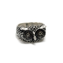 포프(POFF) BLUE DIAMOND OWL SILVER RING
