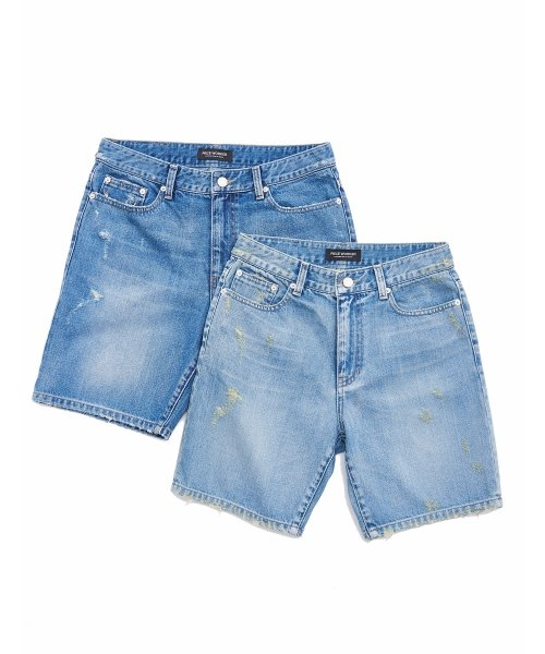 피스워커(PIECE WORKER) Scratch shorts - Light blue