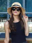 화이트샌즈(WHITESANDS) [화이트샌즈] RAFFIA CLOCHE HAT BLACK WS16-246ENBK