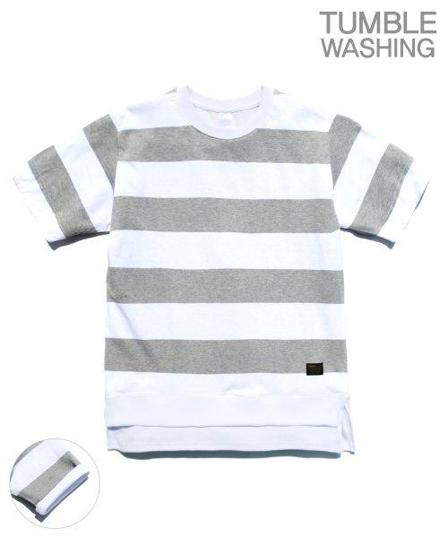 제멋_[제멋]Layered stripe short tee gray(2028)
