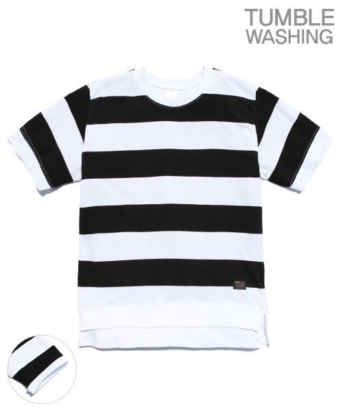 제멋_[제멋]Layered stripe short tee black(2028)