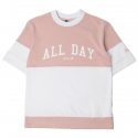 로맨틱크라운(ROMANTIC CROWN) [ROMANTICCROWN]ALLDAY 1/2 SWEAT SHIRT_PINK