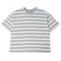 로맨틱크라운(ROMANTIC CROWN) [ROMANTICCROWN]STRIPE WIDE 1/2 SHIRT_GRAY