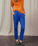 러닝하이(RUNNING HIGH) [UNISEX] DENIM STRIPE BANDING TROUSERS [BLUE]
