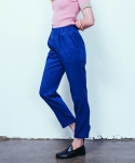 러닝하이(RUNNING HIGH) [UNISEX] DENIM BANDING TROUSERS [DARK BLUE]