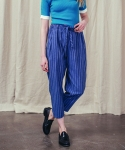 러닝하이(RUNNING HIGH) [UNISEX] COTTON HERRINGBONE TROUSERS [BLUE]