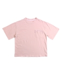 러닝하이(RUNNING HIGH) [UNISEX] LOOSE FIT PATCH WASHING CUT&SEWN [PINK]