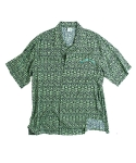 러닝하이(RUNNING HIGH) [UNISEX] B.B.B NYLON ALOHA SHIRTS [EMERALD]
