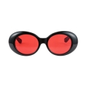 하이비션(HYBITION) Roswell Original Glossy Black / Red Tint Lens