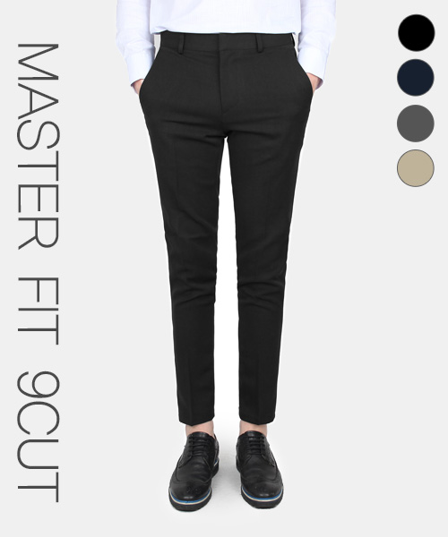 티알마크_MASTER FIT 9CUT SLACKS BLACK