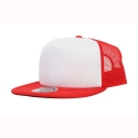 오토캡(OTTO CAP) 5 Panel Flat Visor Pro Mesh Back (Red/Wht/Red)