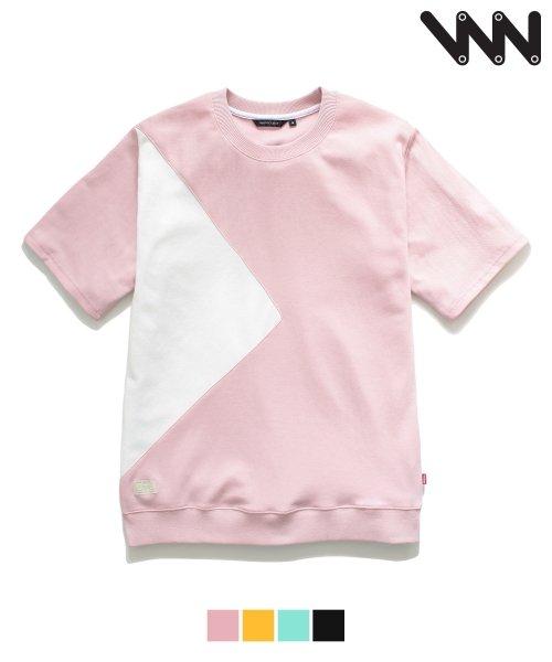 더블유브이 프로젝트_[WV] Triangle 1/2 t-shirt_pink (JJST7027 )