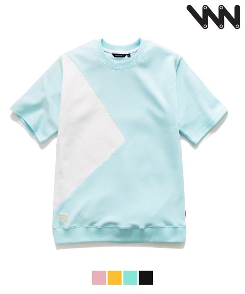 더블유브이 프로젝트_[WV] Triangle 1/2 t-shirt_mint (JJST7027 )