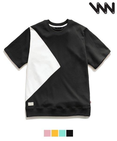 더블유브이 프로젝트_[WV] Triangle 1/2 t-shirt_black (JJST7027 )