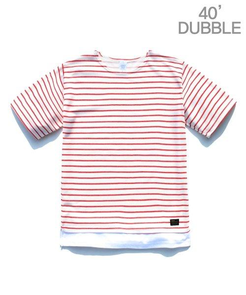제멋_[제멋]Stripe 1/2 t-shirts red(2025)