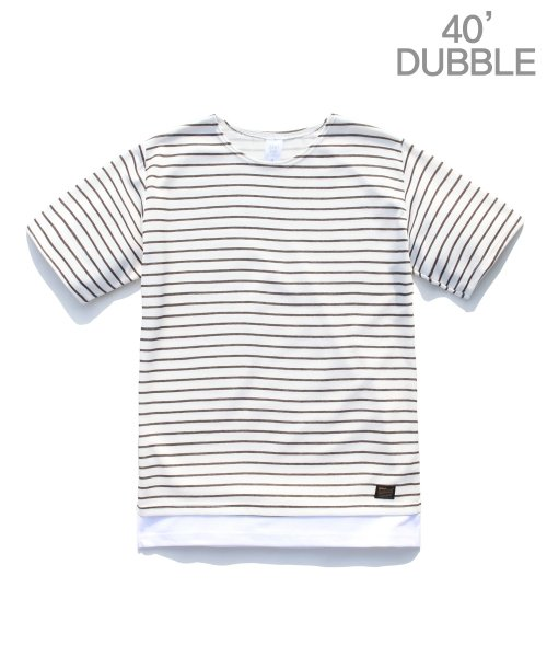 제멋_[제멋]Stripe 1/2 t-shirts brown(2025)