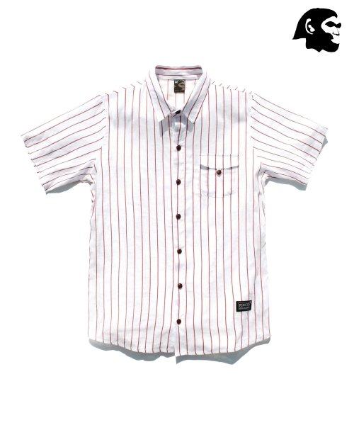 퍼스텝_[퍼스텝] 더블바 반팔셔츠 흰색 SMSS4006