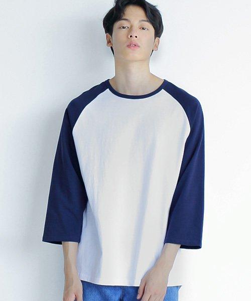 어커버_7부 Raglan T-shirts Navy
