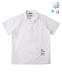 CHILD GRAFFITI TAILORED COLLAR HALF-SHIRTS White