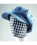 러닝하이(RUNNING HIGH) [UNISEX] B.B.B DENIM NEWSBOY CAP [SKY BLUE]
