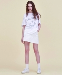 써틴먼스(13MONTH) 16 ss print vacances t-shirt WHITE