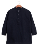 Pure linen pullover shirts navy