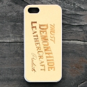 데몬하이드(DEMON HIDE) iPHONE 5/5S/SE LEATHER SKIN CASE (NATURAL)