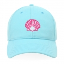 Scallop Shell on Aqua