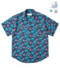 어썸 이미지네이션(AWESOME IMAGINATION) AWESOME DTP-ALOHA HALF SHIRT Navy