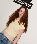 스컬프터(SCULPTOR) SOUR CROP T-SHIRTS[YELLOW]