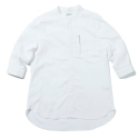 라이크어라이언(LIKE A LION) [L.A.L] chambray Henley neck shirt - white