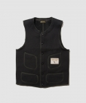 [브라운스 비치] BROWNS BEACH / 524 LOW NECK VEST / SOLID BLACK