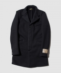 브라운스 비치(BROWNS BEACH) [브라운스 비치] BROWNS BEACH / CHESTER FIELD COAT / SOLID BLACK