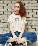 스컬프터(SCULPTOR) ART COLLEGE CROP T-SHIRTS[IVORY]