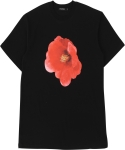 꼼파뇨(COMPAGNO) [1/2]Red Flower TEE black