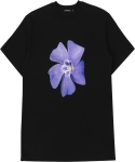 꼼파뇨(COMPAGNO) [1/2]Puple Flower TEE black