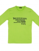 프리플(FREEPLE) MOIRAI t-shirt (yellow-green)