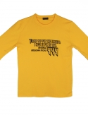 프리플(FREEPLE) MOIRAI t-shirt (yellow)