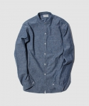 올드조(OLD JOE & CO) [올드조] OLD JOE & CO. / CHAMBRAY BAND COLLAR SHIRTS / LIGHT INDIGO