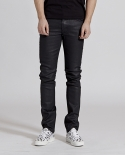 누디진(NUDIEJEANS) [NUDIE JEANS] Thin Finn Org. Back 2 Black 111555