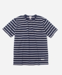 커버낫(COVERNAT) 3COLOR BORDER T-SHIRTS NAVY