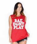 DONT PLAY TANK TOP-RED