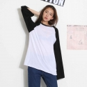 푸시세컨드버튼(PUSH2NDBUTTON) WIDE SLEEVE BOXY TEE_BLACK