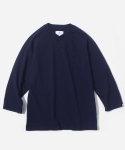 배럴즈(BARRELS) 3/4 HENLEY NECK T-SHIRT NAVY