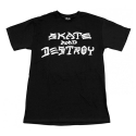 쓰레셔(THRASHER) THRASHER SKATE AND DESTROY TEE (BLACK)