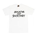 쓰레셔(THRASHER) THRASHER SKATE AND DESTROY (WHITE)