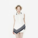 와드로브(WARDROBE) STRIPE POINT BLOUSE_WHITE