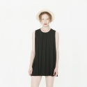 와드로브(WARDROBE) PLEATS MINI ONE-PIECE_BLACK