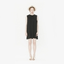 와드로브(WARDROBE) TUCK SLEEVELESS ONE PIECE_BLACK